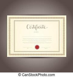conception, certificat
