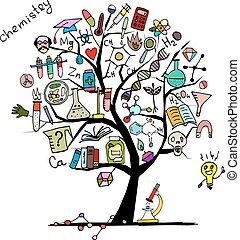 conception, concept, arbre, ton, chimie