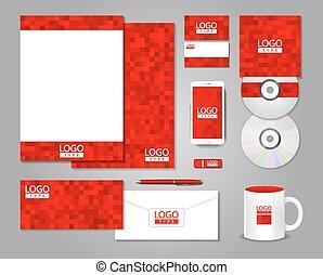 conception corporation, rouges, identité, gabarit