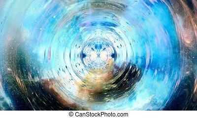 conception, cosmique, concept, espace, musique, concept., graphique, ondes sonores, informatique