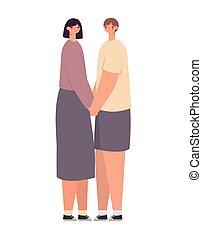 conception, couple étreindre