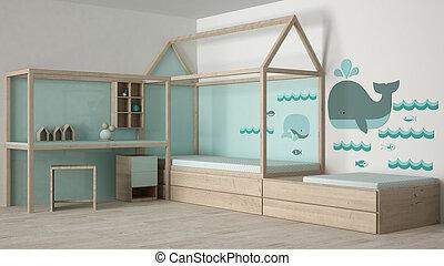 conception, enfants, chambre à coucher