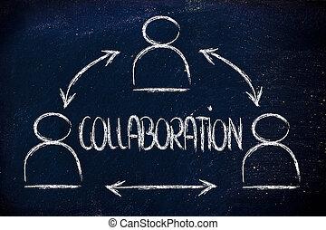 conception, groupe, collègues, collaboration