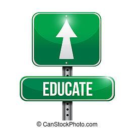 conception, illustration, panneaux signalisations, instruire