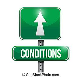conception, illustration, route, conditions, signe