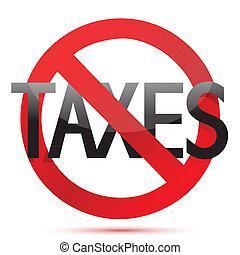conception, impôts, illustration, non