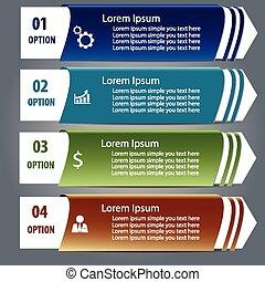conception, infographics, étiquette, élément