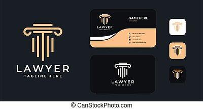 conception, justice, or, droit & loi, luxe, concept, vecteur, logo