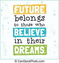 conception, leur, avenir, moderne, illustration, belongs, vecteur, hipster, ceux-là, locution, croire, rêves