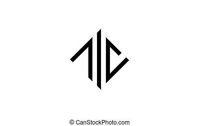 conception, logo, lettre, gabarit, c