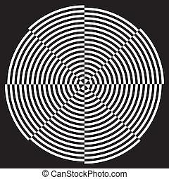 conception modèle, spirale, illusion