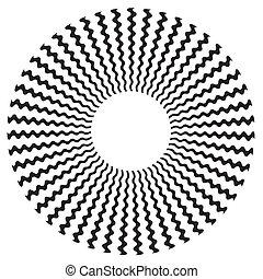 conception modèle, spirale, zigzag