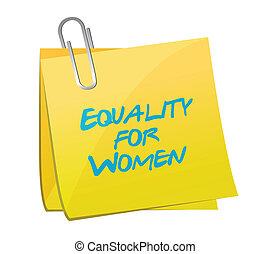 conception, note, égalité, illustration, femmes