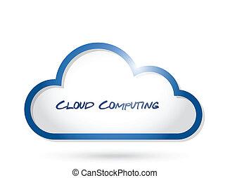 conception, nuage, illustration, calculer