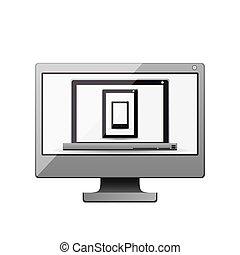 conception, ordinateur portable, smartphone, informatique, tablette