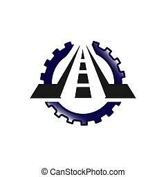 conception, route, nouveau, signe, logo, construction, créatif, entretien, concept