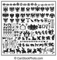 conception, silhouettes, héraldique