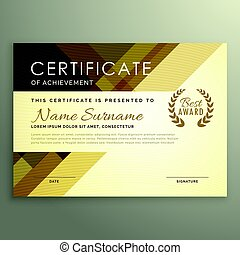 conception, style, moderne, prime, certificat
