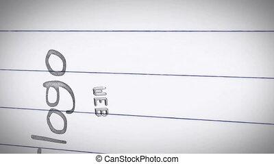 conception, termes, animation, graphique