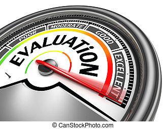 conceptuel, évaluation, mètre