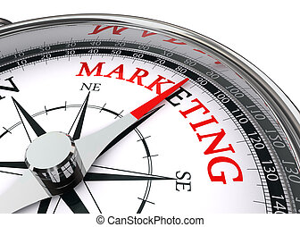 conceptuel, commercialisation, mot, compas