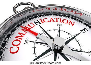 conceptuel, communication, mot, rouges, compas