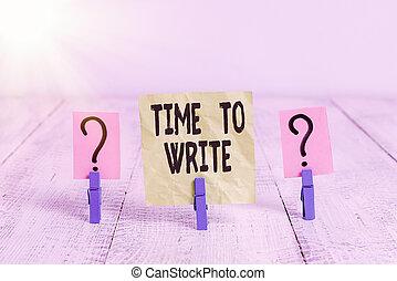 conceptuel, feuille, temps, papier, bois, write., idée, quelque chose, placé, enregistrement, photo, exprès, effritement, clips, ou, livre, gribouillé, projection, signe, texte, table.