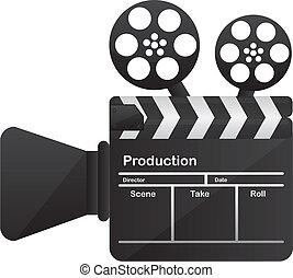 conceptuel, film appareil-photo, cinéma