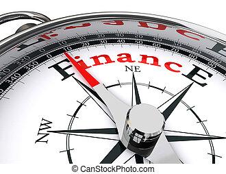 conceptuel, finance, compas
