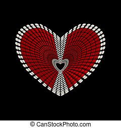 conceptuel, forme coeur, conception