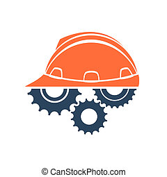 conceptuel, logo, construction