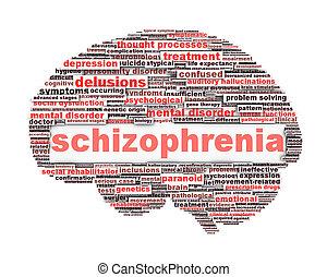 conceptuel, schizophrénie, conception, symbole