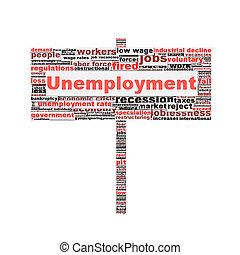conceptuel, symbole, conception, chômage