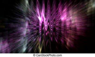 concert, flamme, lumière néon, forme onde, b