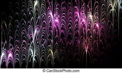 concert, flamme, lumière néon, forme onde