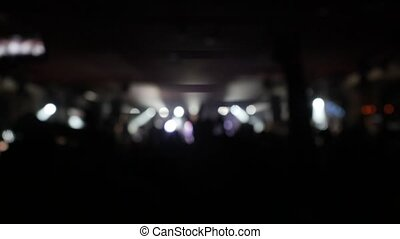 concert roche, foule, téléphone, club, mains, nuit, audio., brouillé, onduler, leur, ventilateurs, 3840x2160, affichages, numérique, prise