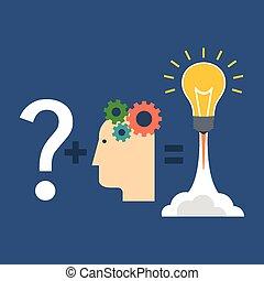 conclusion, solution, innovation, concept., plat, design.