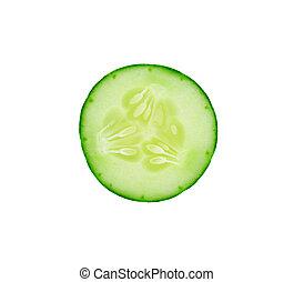 concombre, blanc, frais, couper, fond