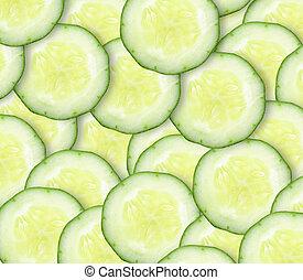 concombre, fond, frais, couper