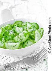 concombre, salade
