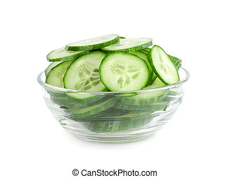 concombre, salade, tranches