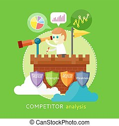 concurrent, analyse, concept