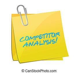 concurrent, poste, conception, analyse, illustration