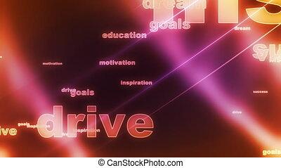 conduire, boucle, fond, buts, rêve