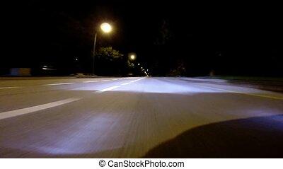 conduite, -, élevé, (acce, nuit, vitesse
