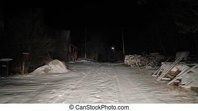 conduite, neige, nuit