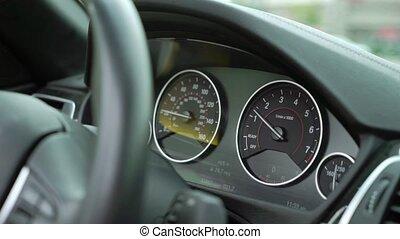 conduite, voiture, tableau bord