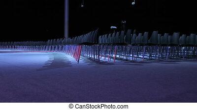 conférence, anticipation, salle, business, chaises, audience., ou, gratuite, confortable, vide, armchairs., séminaire, conférence, début, salle, seats., vue