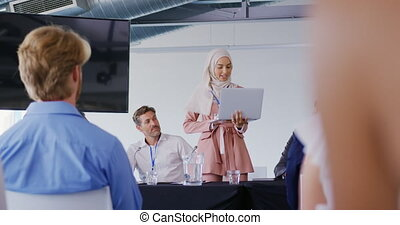 conférence, business, orateur, audience, adresser