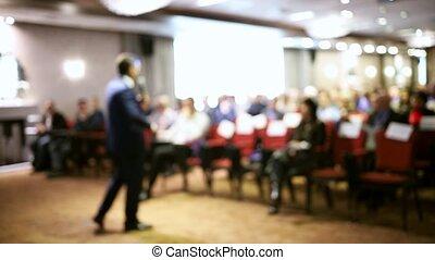 conférence, présentation, salle, business